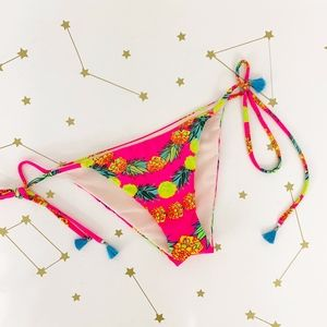 Mara Hoffman • Pink Pineapple String Bikini Bottom
